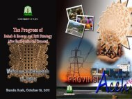 Presentasi Rehabilitation & Reconstruction ... - BAPPEDA Aceh