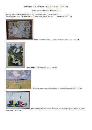 Catalogue de la collection T'es C@P et les ARTISTES Vente aux ...