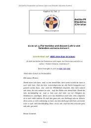 Ein Brief zu Parmenides und dessen Lehre vom ... - Bare-jesus.net