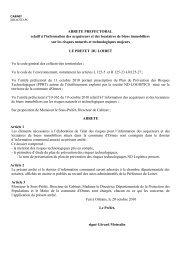 ARRETE PREFECTORAL relatif à l'information des acquéreurs et ...