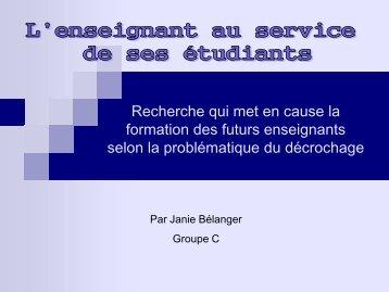 Bélanger - Faculté des sciences de l'éducation - Université de ...