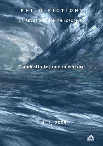 Clandestin-en-Un - Revue Onphi p.69 - 2009 - Xavier Pavie