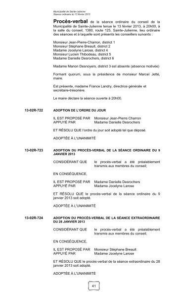 13 février 2013 - Sainte-Julienne