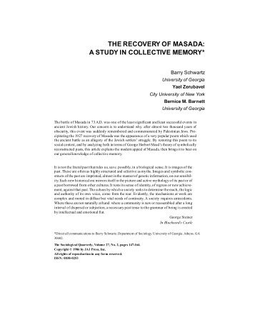 collective memory Memory is a component of identity wars provide important events for studying collective memory this opposition has faded as social scientists explore the ways history and memory interact (assmann france 1996.