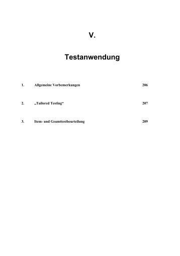 V. Testanwendung - Dr. Jochen Beck