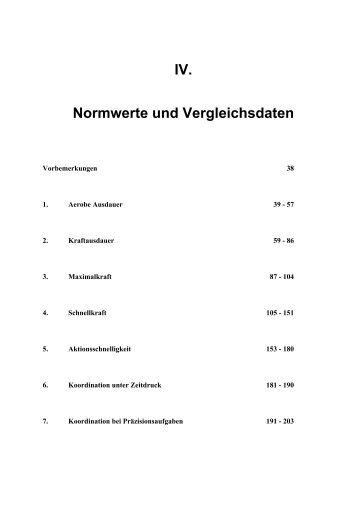IV. Normwerte und Vergleichsdaten - Dr. Jochen Beck