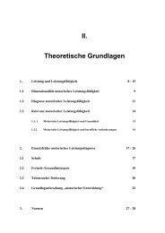 II. Theoretische Grundlagen - Dr. Jochen Beck