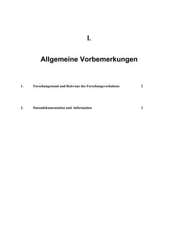 Forschungsstand - Dr. Jochen Beck