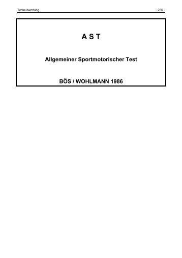 Materialien zur Testauswertung - Dr. Jochen Beck