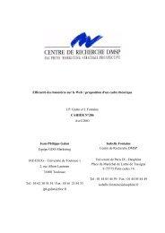 CAHIER N°286 - Base Institutionnelle de Recherche de l'université ...