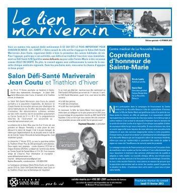 Bulletin spécial - février 2013 (santé) - Ville de Sainte-Marie