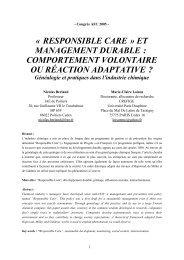 Responsible Care - Base Institutionnelle de Recherche de l ...