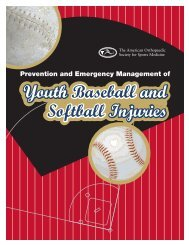 Youth Baseball and Softball Injury Prevention Handbook - American ...