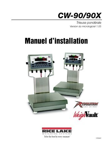 CW-90/90X Checkweigher Manual - Rice Lake Weighing Systems