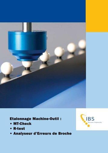 Etalonnage Machine-Outil : • MT-Check • R-test • Analyseur d ...