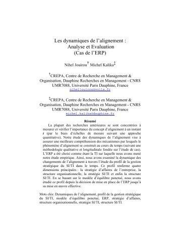 Les dynamiques de l'alignement : Analyse et Evaluation (Cas… - AIM