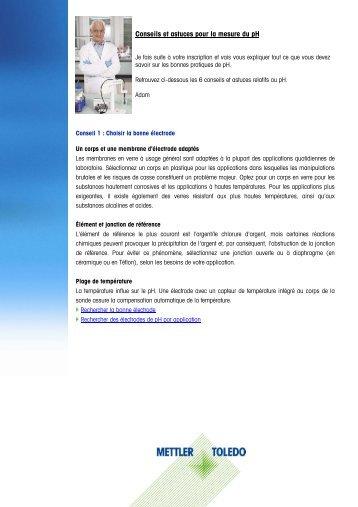 Conseils et astuces pour la mesure du pH