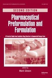 Pharmaceutical Preformulation and Formulation