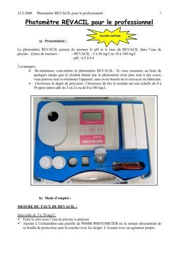 Photomètre REVACIL pour le professionnel - Mareva