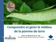 Comprendre et gérer le mildiou de la pomme de terre - Canadian ...