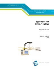 Système de test Certifier® FA Plus Manuel d'utilisation - TSI