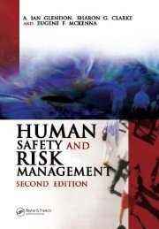 human safety and risk management second edition a. ian glendon