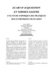 goodwill et normes ias/ifrs : un etat des lieux - Liste des centres de ...