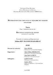 View - Liste des centres de recherche - Université Paris-Dauphine