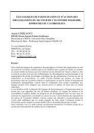 Amin CHIKAOUI - Liste des centres de recherche - Université Paris ...