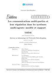 Les communications multi-parties et leur régulation dans les ...