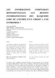 les informations comptables repondent-elles aux ... - IAE de Poitiers