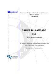 cahier du lamsade 230 - Base Institutionnelle de Recherche de l ...