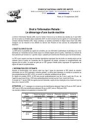 Droit à l'Information Retraite - Solidaires Finances publiques