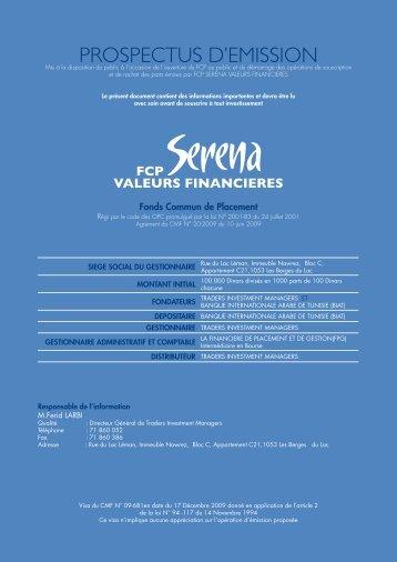 fcp serena valeurs financieres - CMF