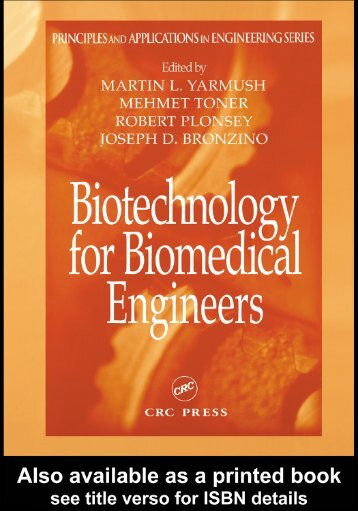 Biotechnology for Biomedical Engineers: Principles and ...
