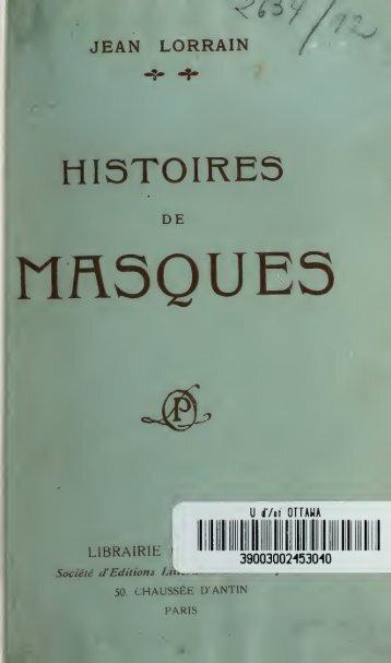 Histoire de masques