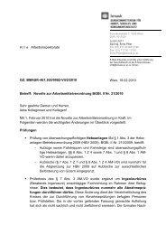 Novelle zur Arbeitsmittelverordnung BGBl. II Nr. 21/2010