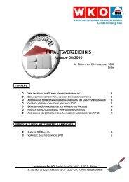 Inhaltsverzeichnis 08 - Landesinnung Bau