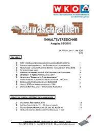 Inhaltsverzeichnis 03 - Landesinnung Bau