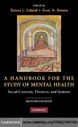 A Handbook for the Study of Mental Health: Social Contexts ...