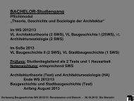 Beschreibung - Institut für Baugeschichte, Architekturtheorie und ...