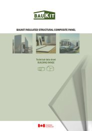 BAUKIT INSULATED STRUCTURAL COMPOSITE PANEL