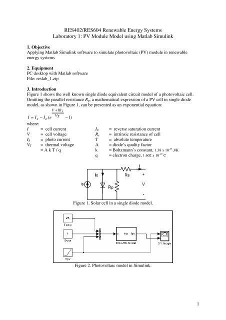 PV Module Model using Matlab Simulink