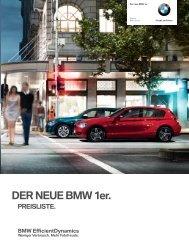Preisliste zum BMW 1er F20 Stand März 2012 - BimmerToday