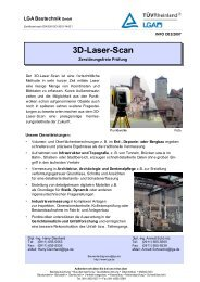 3D-Laser-Scan - Bautechnik - LGA