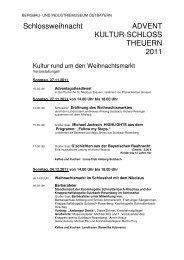 Programm Adventsmarkt - Bayerischer Jura