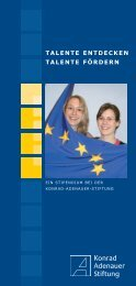 Stipendium Konrad-Adenauer-Stiftung - DLRG-Jugend Bayern