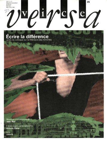 Vol. 2 N. 3 Écrire la différence - ViceVersaMag