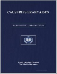 CAUSERIES FRANÇAISES - World eBook Library
