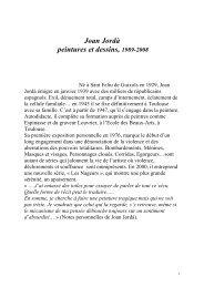 Joan Jordà peintures et dessins, 1989-2008 - Librairie Les Argonautes